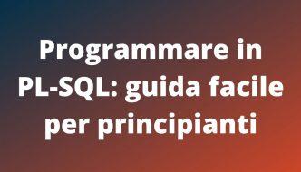 GUIDA FACILE PL-SQL